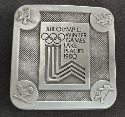 Olympic Winter Games Lake Placid 1980 Olympics Xiii Belt Buckle