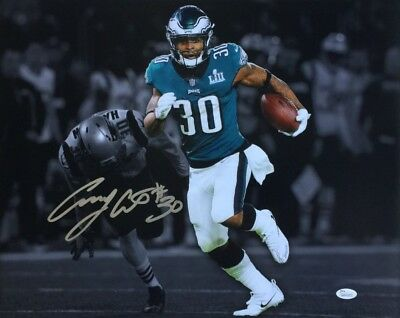 7e4597e17aa COREY CLEMENT SUPER Bowl LII 52 Eagles Autographed/Signed 8x10 Phota ...