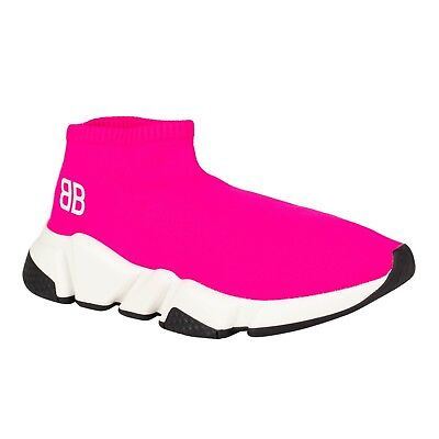 be627b38280 NIB BALENCIAGA PINK Speed Sock Trainers Sneakers Shoes Size 6/36