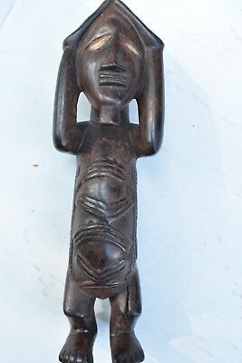 """orig $499- YOMBE WITCHDOCTORS NIKISI! CERAMIC EYES1900S REAL 8"""" PROV."""