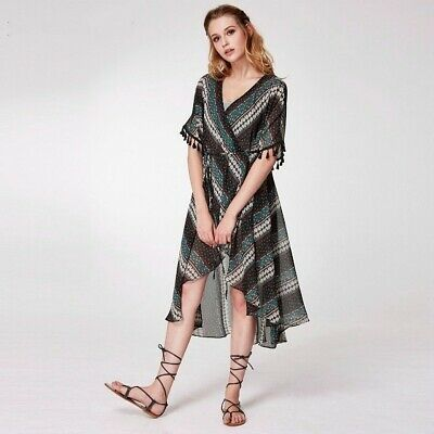 Printed Casual Dress New Summer Short Beach For Party Fashion Assymetrical Retro