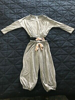 eberjey mini slouchy Lounge set Heathered grey 2T Pink Bows Pajamas