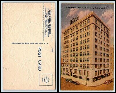NEW YORK Postcard - Rochester, Ford Hotel C17