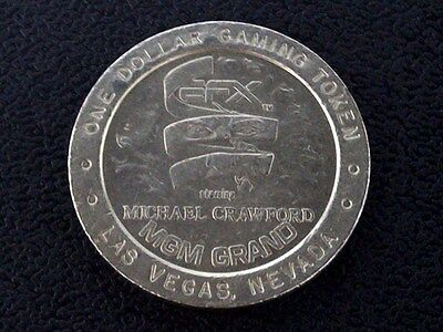 "$1 Casino Token -- Mgm Grand Resort -- ""Efx"" -- Las Vegas, Nv -- ""Obsolete"""