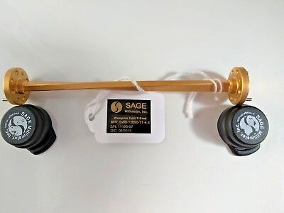 Sage SWB-12090-T1-4.6, WR-12 Waveguide Twist, E Band, 60 GHz - 90 GHz, 90 Degree