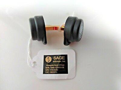 Sage Model SWB-12045-HB,  WR-12 Waveguide, E Band, 45° E-Plane Bend