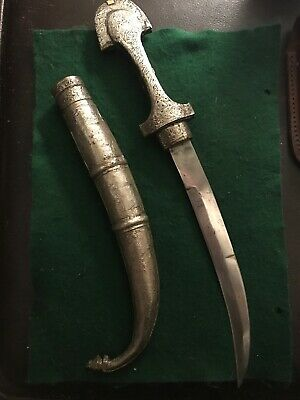 Antique Islamic Silver Khanjar Dagger Knife Vintage Muslim Rare Old  Engraved