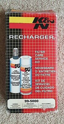 K&N Recharger Kit 99-5000 Air Filter Service Cleaner and Oil Cleaning Care
