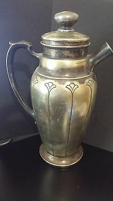 Vintage Homan Nickel on Silver 1-1/2 Qt. Pitcher