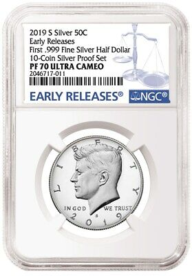 2019 S Silver Kennedy NGC PR-70 .999 Silver Early Release Ultra Cameo .999 Silvr