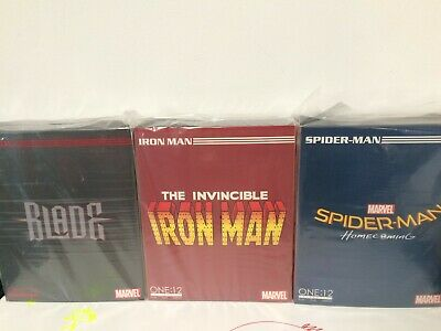 3-SET MEZCO One:12 Collective IRON MAN + BLADE + SPIDER-MAN HOMECOMING NEW LOT