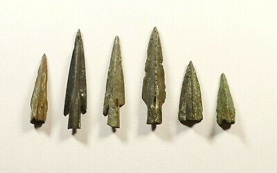 SUPERB LOT OF 6 Ancient Greek Scythian Arrow Heads Bronze 5th c BC