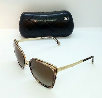 ee2ae060633a AUTHENTIC CHANEL 4209 c.463-S9 BUTTERFLY CLEAR HAVANA  GOLD BROWN GRADIENT