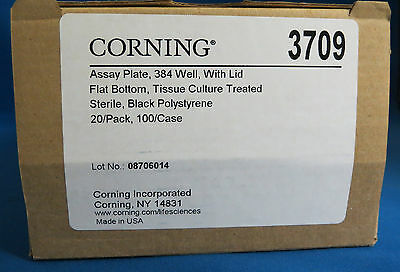 Corning 384 Well  Black Assay Plates # 3709 Tissue Culture Treated Pk/20