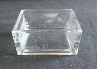 Unbranded/Wheaton 10-Slide Rectangular Glass Staining Dish Only, Chipped, 900170