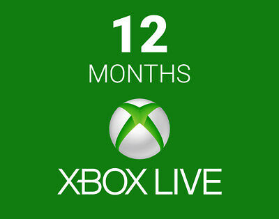 Microsoft Xbox One/360 12 Month Live GOLD Membership Code (USA)