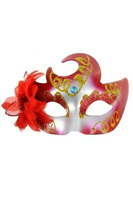 Masque Faust Rouge Maskarade