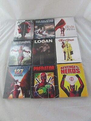 Deadpool Collectible Slip Cover Blu-Rays Lot of 9 - Assassin's Creed, Logan, NEW