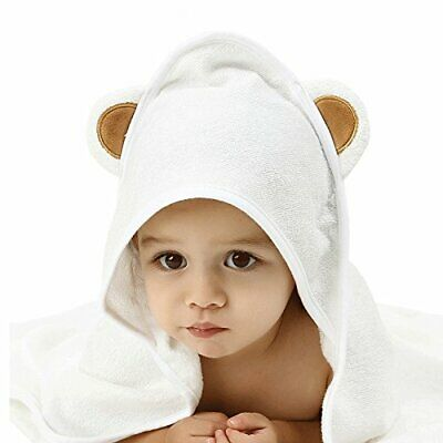 Extra Soft Bamboo Hooded Baby Blanket Towel Washcloth Set for Infant Toddler