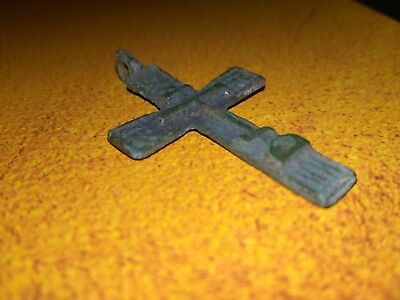 Medieval period Bronze Cross Pendant.17th century