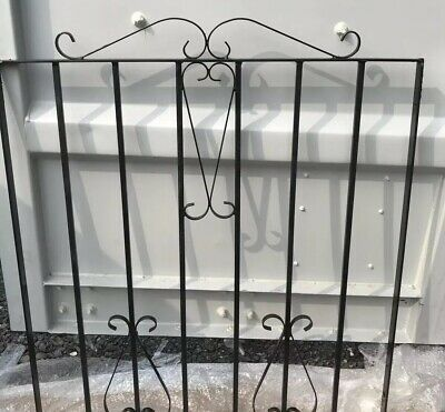 HAND MADE GARDEN GATE BLACK WROUGHT IRON SMALL GATES 86x100 To Fit. 90-98 Cm Gap