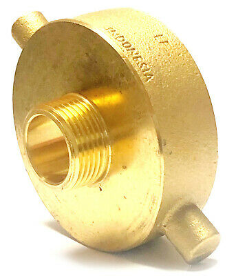 "2-1/2"" Female NST x 1"" Male NPT FIRE HOSE HYDRANT ADAPTER Lead Free Brass"