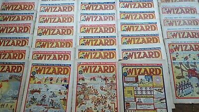 The Wizard comic From 1950, 1944, 1941 & 1936 Runs as per photos 43 in Total