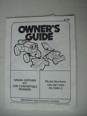 FRONTIER OPERATOR S MANUAL For Rear Blades Rb1060 Rb1072
