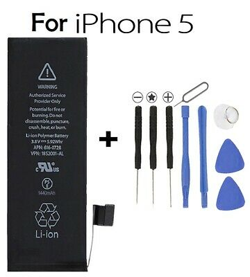 Genuine 1440mAh Battery Replacement for iPhone 5 5G 100% Capacity + Tools