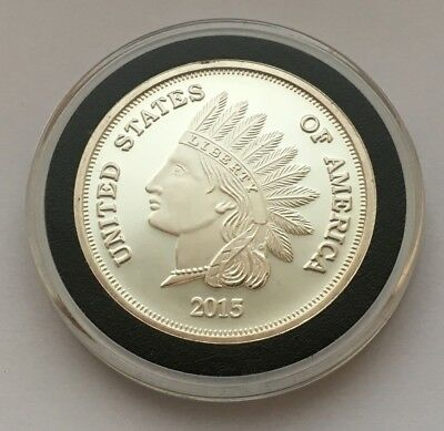 2015 United States Of America Liberty Indian Head One Ounce 999 Silver Round