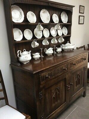WEBBER OF CROYDON Oak Welsh dresser