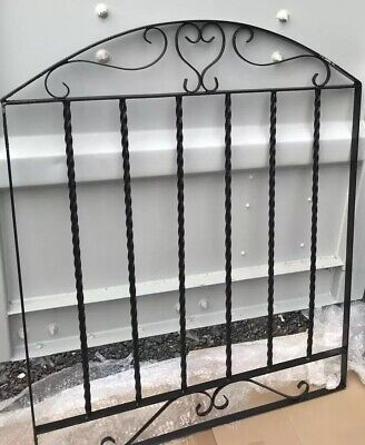 Wrought Iron Metal Arched Scroll Tall Garden Gate 3ft 915mm x 6ft2 1880mm WWB11