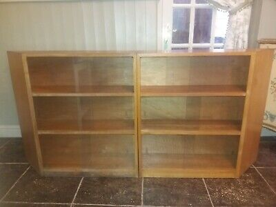 Vintage Odhams 2 Piece  Haberdashery Glazed Display Cabinets / Bookcases