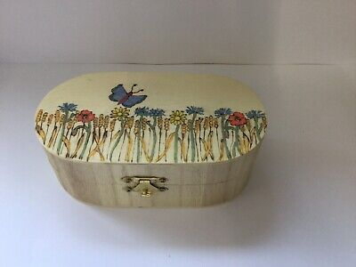 Attractive Wooden Box By Turn And Burn Withersfield Suffolk New