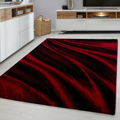 MIAMI SMALL X EXTRA LARGE THICK 12mm HIGH PILE PLAIN SOFT NONSHED RUG-6630 Red