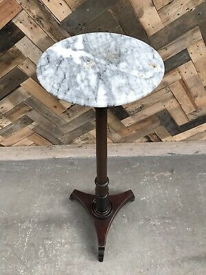 Vintage Marble Top Torchere Plant Stand