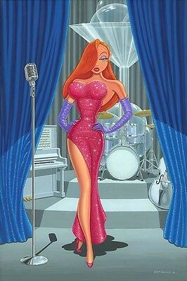 "Disney Fine Art Jessica Rabbit ""Diva in a Red Dress""  by Manuel Hernandez"