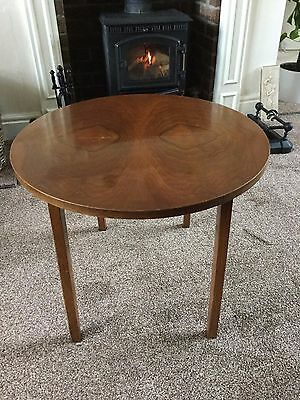 Antique Deep Mahogany Circular Fold Away Coffee Side Table Free Delivery