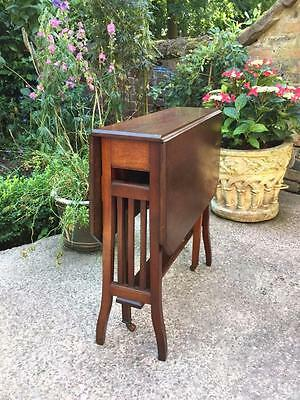 Small Arts & Crafts Rich Mahogany Sutherland Drop Leaf Extending Table