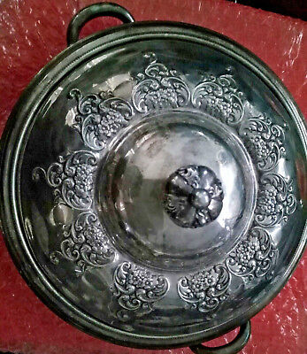 Antique Forbes Quadruple Sterling Silver Co USA  555 Dish w/ cover