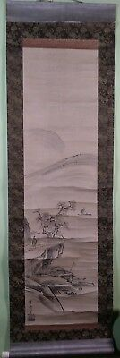 Asian scroll on paper 20th c. unidentified