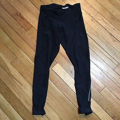 e05bc4a160a5c7 Nike Womens S Fit Dry Black Tech Tight Running Leggings Ankle Zip Pocket  361078