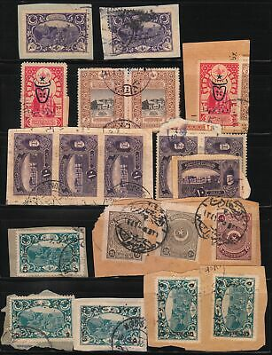 Turkey In Asia Ottoman Empire 1918-1921 Fragments Part 6 Postmarks