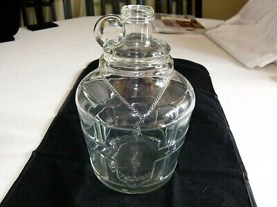 Vintage BRIGHT'S Est'd 1874 No 51 Glass Wine or Whiskey Jug 1 1/2 Gallons