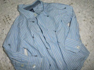 euc Baby Gap blue stripe guitar long sleeve button shirt baby boy 18 m 24 m