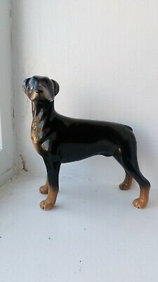 "Pointer black and tan Ceramic Figurine Ornament 7"" tall"