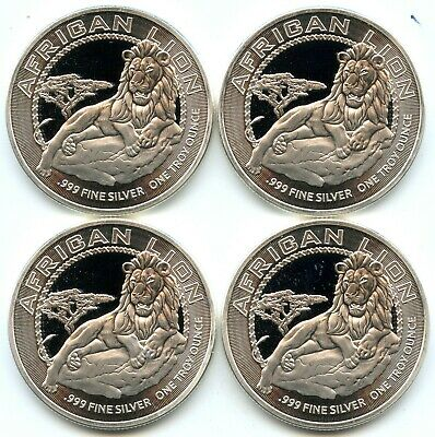 Genuine Lot of (4) 2017 Niue $2 African Lion 1 oz