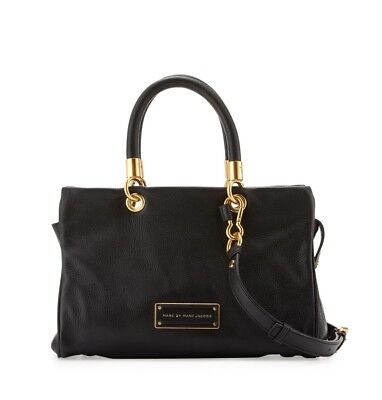 fcec613e2583 New Marc by Marc Jacobs Too Hot to Handle Leather Satchel Bag BLACK  AUTHENTIC