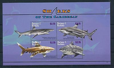 [33359] Antigua & Barbuda 2010 Marine Life Sharks MNH Sheet