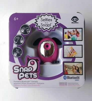 WowWee PINK SNAP PETS Selfies in a Snap! Portable Bluetooth Camera NEW